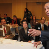 Salem:<br /> Governor Deval Patrick speaks at the Mass Mayors Association meeting held at Salem State University.<br /> Photo by Ken Yuszkus/Salem News, Wednesday, February 16, 2011.