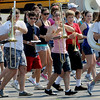 Beverly:<br /> Students practice marching during the Beverly High School band camp in the parking lot in back of the school.<br /> Photo by Ken Yuszkus/Salem News, Thursday,  August 19, 2010.