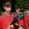 Marblehead:<br /> From left, Andrew Scholnick holds one of the new team hats that honor Allie Castner, with Chris Neumann and Ryan Dempsey wearing the new hats. They are with the Marblehead golf team at Tedesco Country Club.<br /> Photo by Ken Yuszkus/Salem News, Sunday, September 13, 2009.