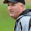 Peabody:<br /> Dave Woods, Bishop Fenwick's football coach, at football pratice on Tuesday.<br /> Photo by Ken Yuszkus/Salem News, Tuesday,  October 5, 2010.