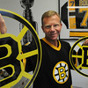 Ipswich:<br /> Chuck Mower is a long-time Bruins' season-ticket holder who is on a waiting list to fly to Vancouver for Wednesday's Game 7.<br /> Photo by Ken Yuszkus/Salem News, Tuesday, June 14, 2011.