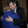 Salem:<br /> Senator Scott Brown gets a hug from Mary Margaret Moore, executive director of Independent Living Center, at the beginning of the Salem Chamber of Commerce luncheon held at the Hawthorne Hotel.<br /> Photo by Ken Yuszkus/Salem News, Wednesday, April 20, 2011.