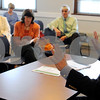 Ipswich:<br /> Bob Markel, Ipswich town manager, leads the discussion at town hall with town managers and administrators who are meeting to discuss concerns with the retirement system and possibility of pulling out, transferring to the state system.<br /> Photo by Ken Yuszkus/Salem News, Friday, June 12, 2009.