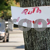 "Swampscott: <br /> The sign which is posted on a tree on Stetson Avenue states ""Ruth I love you"". <br /> Photo by Ken Yuszkus/Salem News. Thursday, September 18, 2008"