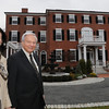 Salem:<br /> Martha and Neil Chayet stand in front of their home. The home is the first LEED certified home on the National Register of Historic Places. <br /> Photo by Ken Yuszkus/Salem News, Monday November 23, 2009.