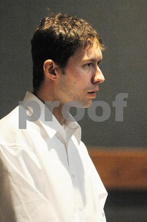 Salem:<br /> Adam Brandt in Salem District Court pleads guilty to charges.<br /> Photo by Ken Yuszkus/Salem News, Monday November 17, 2008.