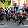 Salem:<br /> The racers of the Elite Mens race speed through the first turn of the race from South Washington Square onto North Washington Square during the Witches Cup bicycle races around the common.<br /> Photo by Ken Yuszkus/Salem News, Wednesday, August 10, 2011.