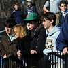 Danvers:<br /> St. John's Prep students watched senior Erik Slettehaugh, of Groveland, pilot a helicopter over the Cronin Stadium field at St. John's Prep school where he eventually landed.<br /> Photo by Ken Yuszkus/Salem News, March 10, 2010.