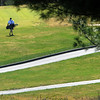 Beverly:<br /> A golfer walks across the green grass while playing golf at the Beverly Golf & Tennis Club on Friday.<br /> Photo by Ken Yuszkus/Salem News, Friday,  March 23, 2012.