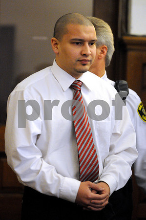 Salem:<br /> Christian Almonte, of North Andover, a gang member who allegedly killed his secret male lover, Willie Escobar of Methuen, is in Salem Superior Court for the opening statements in the trial.<br /> Photo by Ken Yuszkus/Salem News, Wednesday, April 15, 2009.