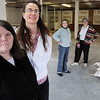 Peabody:<br /> From left, Kathleen McMath, manager of the thrift shop, Julia Donahue, assistant manager of the thrift shop, Linda Richards, and Veann Campbell, stand in the new thrift shop that will soon open at 26 Howley Street. Harvest of Hope/St. Joseph Food Pantry in Salem is opening the thrift store to support its food program.<br /> Photo by Ken Yuszkus/Salem News, Tuesday, April 20, 2010.