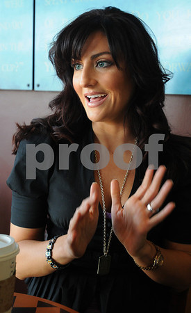 Salem:<br /> TV personality, model and actress Alanna Leonard of Swampscott speaks about her current reality show Millionaire Matchmaker and her modeling career.<br /> Photo by Ken Yuszkus/Salem News, Tuesday,  February 24, 2009.