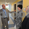 Peabody:<br /> From left, Shawn Kinney, director of site operations, describes the new wing at Lahey Clinic, North Shore to Mary Bellavance, Peabody mayor's assistant, and Michael Bonfanti, Peabody mayor. Lahey Clinic, North Shore, unveiled its newly constructed 65,000 square foot, outpatient wing and clinical services expansion during a ribbon-cutting ceremony and site tour.<br /> Photo by Ken Yuszkus/Salem News,  Wednesday, June 3, 2009.