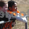 Beverly:<br /> Helen Armore, left, and Janelle Louis, Beverly High girls track captains, at the high school track.<br /> Photo by Ken Yuszkus/Salem News, Monday, March 23, 2009.