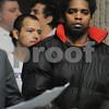 Salem:<br /> Raymundo Henriquez enters the courtroom at Salem District Court for his arraignment.<br /> Photo by Ken Yuszkus/Salem News, Tuesday,  January 27, 2009.