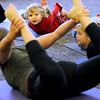 Middleton:<br /> Charlotte Durkee, 3, of Danvers, learns yoga during the Yoga For Kids program at the Flint Library on Tuesday. The program is held once a month at the library.<br /> Photo by Ken Yuszkus/Salem News, Tuesday, December 13, 2011.