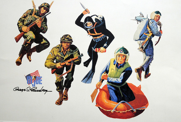 Marblehead:<br /> Some of George Eisenberg's artwork for GI Joe dolls. He was a WWII vet and renowned illustrator.<br /> Photo by Ken Yuszkus/Salem News, Thursday, May 26, 2011.