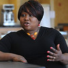 Salem:<br /> Mabelle Casimir has overcome many obstacles to earn her bachelor's degree from Salem State College. She talks about her experiences.<br /> Photo by Ken Yuszkus/Salem News, Friday, May 21, 2010.