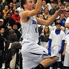 Danvers:<br /> Danvers' Jon Amico goes up for a shot at his net during the Winthrop at Danvers bys basketball game.<br /> Photo by Ken Yuszkus/Salem News, Monday, February 13, 2012.