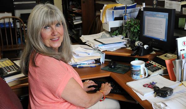 Beverly:<br /> Anna Flynn Bertini is the winner of the Baron Mayer Award.<br /> Photo by Ken Yuszkus/Salem News, Friday, May 25, 2012.
