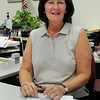 Beverly:<br /> Kathleen Connolly is the newly appointed Beverly city clerk. She is in her office at city hall.<br /> Photo by Ken Yuszkus/Salem News, Wednesday,  September 8, 2010.