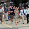 "Peabody:<br /> Walking along Main Street in Peabody on Tuesday evening are planners who are looking for ways to improve the ""corridor"" from Peabody to Salem.<br /> Photo by Ken Yuszkus/Salem News, Tuesday August 17, 2010."