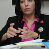 Beverly:<br /> Salem Mayor Kim Driscoll speaks with The Salem News staff on Monday.<br /> Photo by Ken Yuszkus/Salem News, Monday,  February 27, 2012.
