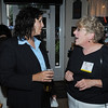 Salem:<br /> Salem Mayor Kim Driscoll, left, speaks with Pam Lombardini at Cafe Polonia. Mayor Kim Driscoll was on a tour of three of Salem's dining spots: Cafe Polonia, Adriatic Restaurant & Bar, and Great Escape Restaurant. It was the Mayor's Night Out, which is part of Salem's Heritage Days.<br /> Photo by Ken Yuszkus/Salem News, Monday, August 8, 2011.