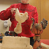 Peabody:<br /> Joan Price works on her project at the Peter A. Torigian Community Life Center. She is a participant in the wood carving activity.<br /> Photo by Ken Yuszkus/The Salem News, Wednesday, January 30, 2013.