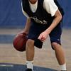 Hamilton:<br /> Sophomore guard James Foye does drills during Hamilton-Wenham boys basketball practice.<br /> Photo by Ken Yuszkus/The Salem News, Monday, January 14, 2013.