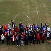 "Peabody:<br /> Residents and employees at Brooksby Village are wearing red white and blue in front of the words ""Go Pats"" outside behind the clubhouse for a photograph.<br /> Photo by Ken Yuszkus/Salem News Tuesday, January 15, 2013."