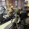 Peabody:<br /> Al Fogel, left, and Bill Conway exercise on the apparatus in the workout room at the Peter A. Torigian Community Life Center.<br /> Photo by Ken Yuszkus/The Salem News, Wednesday, January 30, 2013.