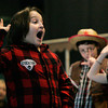 Salem:<br /> Cameron Hart plays Willy Wonka during the rehearsal for the upcoming play, Willy Wonka Jr. at the Carlton School.<br /> Photo by Ken Yuszkus/The Salem News, Wednesday, January 16, 2013.
