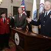 Salem:<br /> Major general Scott Rice speaks during the ceremony at Salem City Hall marking Salem as birthplace of the National Guard.<br /> Photo by Ken Yuszkus/The Salem News, Thursday, January 17, 2013.