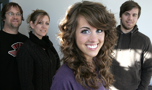 Beverly:<br /> American Idol contestant Angela Miller in the foreground with her parents, Guy and Tana, and brother, Jonathan in the background.<br /> Photo by Ken Yuszkus/The Salem News, Friday, January 18, 2013.
