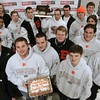 Beverly:<br /> The Beverly football team are at Modell's Sporting Goods store. The store gave them pizza, $20 gift certificates, and coupons.<br /> Photo by Ken Yuszkus/The Salem News, Friday, January 18, 2013.