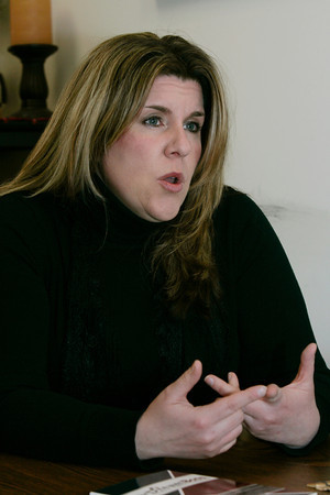 """Salem:<br /> Carrie Stack is the author of """"The Dream Boss"""".<br /> Photo by Ken Yuszkus/The Salem News, Wednesday, January 2, 2013."""