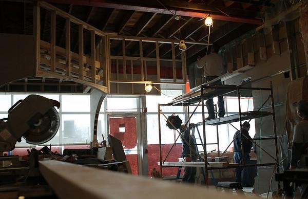 Hamilton: The new area, which is under construction at 15 Walnut Restaurant. Photo by Mark Lorenz/Salem News