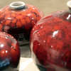 Beverly: These vases are part of a 64 piece art exhibit, which includes paintings, stoneware and enamel, by J. David Broudo, 90, who taught at Endicott College for 50 years will showcase his work from over five decades, at the Heftler Visiting Artist Gallery, Center for the Arts, Endicott College It's a Retrospective with Photo by Mark Lorenz/Salem News