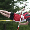 Hamilton: Masconomet pole vaulter, Matt Whiffen during a vault in meet against Hamilton-Wenham Regional High School. photo by Mark Lorenz/Salem News