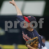 Bristol: Peabody West's Matt Hosman delivers a pitch in the first - inning of play against Connecticut 12-1 in New England Semi-Final game. Photo by Mark Lorenz/Salem News