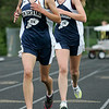 Ipswich: Hamilton-Wenham 2 mile runners, Kerry Phelan who take first and Carrie Goodrich who took second during meet at Ipswich High. Photo by Mark Lorenz/Salem News