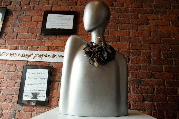 "Beverly: ""The Necklace"" by Dr. Enid Larsen. Larsen's work will be on display at the Van Loan School of Graduate and Professional Studies at Endicott College.  Photo by Mark Lorenz/Salem News"