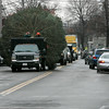 Danvers: Crews from the city of Danvers move along Elm Street with the cities Christmas tree, which was donated by Green Chiropractic in Danvers. Photo by Mark Lorenz/Salem News