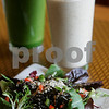Beverly: Some of the types of salads and smoothies served at Organic Cafe, 294 Cabot St. , which is owned by Robert Reid. Photo by Mark Lorenz/Salem News