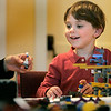 Wenham: Elijah Greenberg, 4, enjoys building Legos with his mother, Kim Dietel of Hamilton, during Wenham Museums Lego Maniacs Palooza. Photo by Mark Lorenz/Salem News