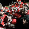 Lowell: Masconomet Regional High School players celebrate their win against Concord-Carlisle giving them a chance to play in the high school suoperbowl. Photo by Mark Lorenz/Salem News