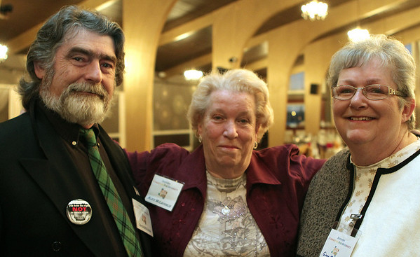 Danvers: David McKenna, Alice McLaughlin, and Ginny Sidmore enjoying themselves at the Danversport Yacht Club. The Danvers Committee for Diversity held it's 11th Annual Danvers Drum Majors for Justice Awards ceremony. Photo by Mark Lorenz/Salem News