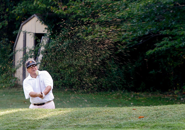 Boxford: Cy Kilgore of Tedesco Country Club, takes a shot at Far Corners Golf Course,  during the North Shore Amateur Golf Tournament. Photo by Mark Lorenz/Salem News<br /> , Boxford: Cy Kilgore of Tedesco Country Club, takes a shot at Far Corners Golf Course,  during the North Shore Amateur Golf Tournament. Photo by Mark Lorenz/Salem News