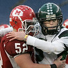Foxboro: Masconomet George Alexandrou and Marshfield High Matt DiGrigoli aftert Marshfiled defeated Masco in Div IIA Superbowl at Gillette Stadium. Photo by Mark Lorenz/Salem News
